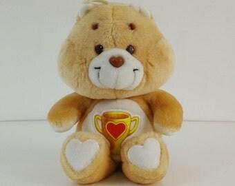 Vintage Care Bears 1985 Champ Bear Plush / Stuffed animal