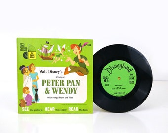Disney's Peter Pan & Wendy Book and Record 1965