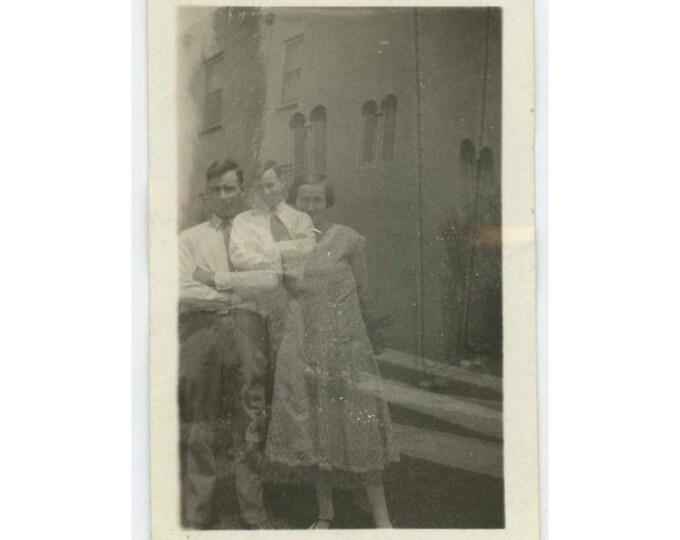 Double Exposure, 1924: Vintage Snapshot Photo (611520)