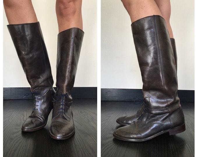Vintage Equestrian Boots 8