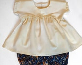 Girls Top and Bubble Shorts Set, Rifle Paper Co Cranes Print, Size 12 months