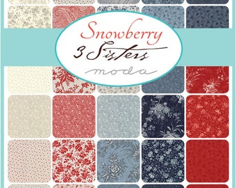 New - Snowberry Charm Pack by 3 Sisters for Moda