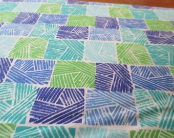 Blue and green quilt | Etsy : quilt weight cotton - Adamdwight.com