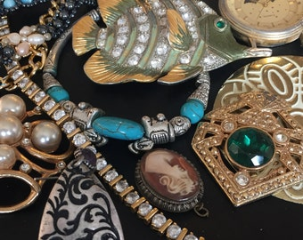 Supplies for Upscale or Steampunk Jewelry, Assorted Pieces. FREE SHIPPING!