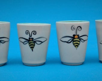 Father's Day, Bee Ware, Shot Glass, Hand Made, Bee, Bumblebee