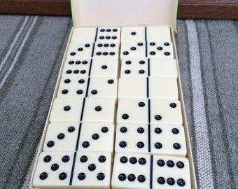 Double-Six Domino Set in Original Cardboard Box