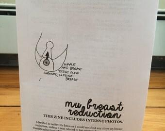 My Breast Reduction zine perzine intense photos zinester