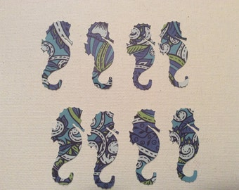 Custom seahorse cut outs die cuts confetti