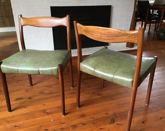 Pair of Fler #64 dining chairs by Fred Lowen c1960s Mid Century Australia