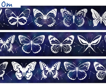 1 Roll of Silver Foiled Limited Edition Washi Tape: Butterfly