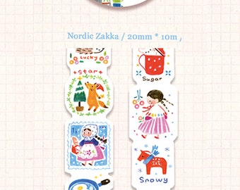 1 Roll of Irregular Limited Edition Washi Tape: Nordic Zakka