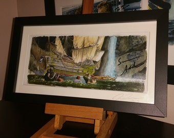 """Signed The Goonies - The Inferno 5""""x11"""" Framed Print Autograhed by Sean Astin"""