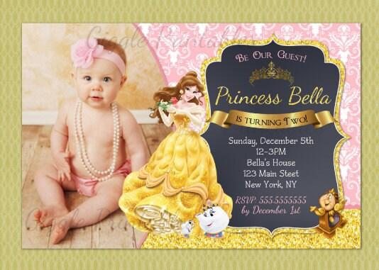 Beauty and the beast invitation princess belle party invitation beauty and the beast invitation princess belle party invitation beauty and the beast birthday filmwisefo