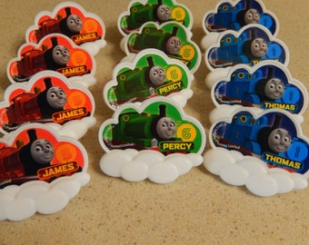 24 Thomas and Friends Cupcake, Cake Topper Rings Party Supply/Licensed