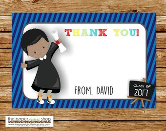 Kindergarten Graduation Thank You Card | Graduation Thank You Card | Preschool Graduation | Graduation Party | End of School Thank You Card