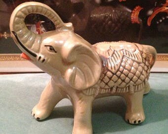 Vintage porcelain elephant, Brazilian porcelain elephant made in Brazil