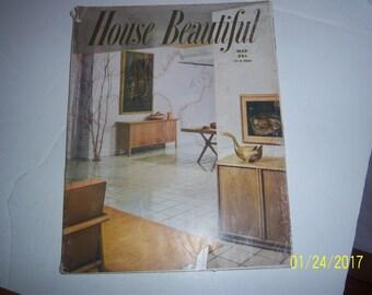 May 1950 House Beautiful Magazine Retro Furniture Paper Ephemera