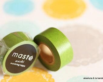 Masking tape/washi tape Masté Green Olive 15mm x 7m