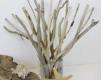 """10""""- 20"""" Driftwood Sticks, Beach Decor, Driftwood Vase Filler, Lake House Decor, Shabby Chic, Driftwood Twigs, Rustic Vase Filler"""