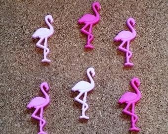 Pink Flamingo  Push Pins or Magnets