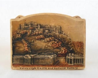 ON SALE Osborne, Ivorex, Wall Hanging, Edinburgh Castle, and, National Gallery, Made in England, Vintage, Collectibles, 3D