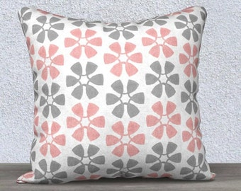 Blush and Gray Pillow, Gray and Blush Pillow Cover, Blush Accent Pillow, Blush Girls Decor, Blush Girl's Pillow, Blush Lumbar Pillow, 14x20