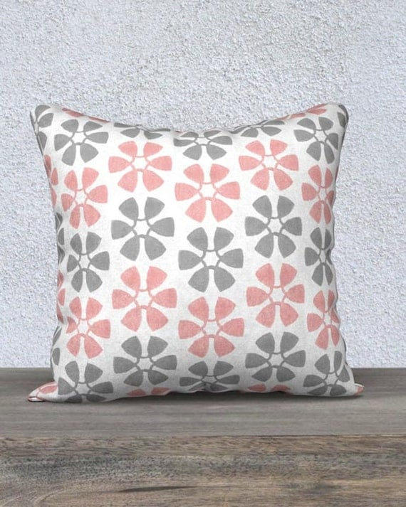 Blush and Gray Kids Pillow