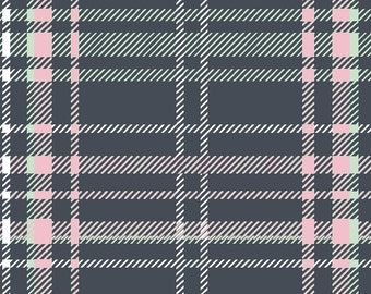 Winter Plaid Fabric by the Yard