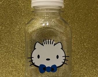 12- Dear Daniel 8 oz or 12 oz Vinyl Cups Plastic Milk Bottles with Lids