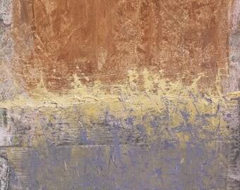 "Original Abstract Oil Painting, ""Margin"" , 12""x9"", by artist John Kelley"