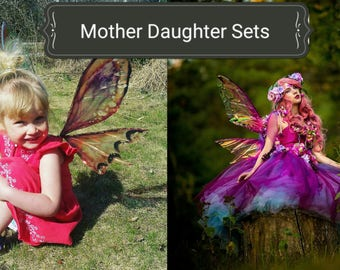 Mother Daughter (or son)  Custom Fairy wings