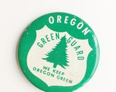 vintage oregon green guard pinback button