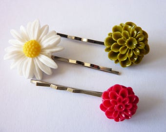vintage nostalgic Flower Hairpins Hair Accessories Roses Floral Hair Pins Flower Bobby Pins,