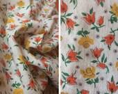 Destash fabric sale   1 yard vintage calico floral print cotton