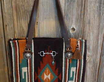 Navajo blanket laptop carrier