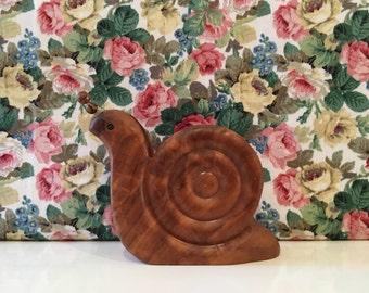 Vintage Snail Wooden Letter Rack Kitsch