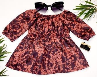 AVA - long sleeve baby blouse dress