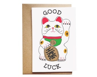 Good Luck Cat Card