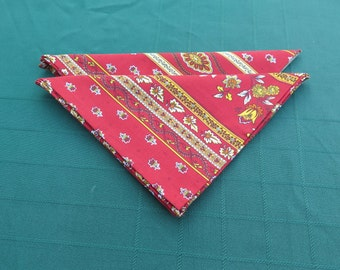 Cotton napkins. Set of 2-4-6-8. Set of napkins.Little red flowers.Gift.Fabric from Provence, France.Cloth napkins.