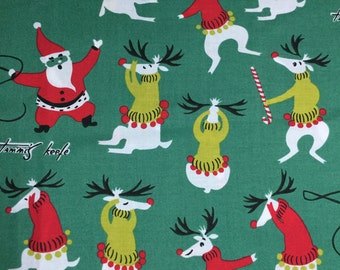 Unruly Reindeer fabric - BTY
