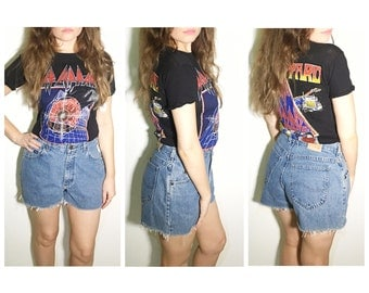 Vintage blue Lee jean shorts cut off shorts  jean cut offs high waist shorts