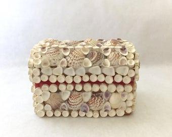 Vintage Seashell Trinket Jewelry Box Sailor's Valentine