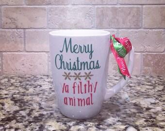 Home Alone Coffee Mug - Merry Christmas Ya Filthy Animal