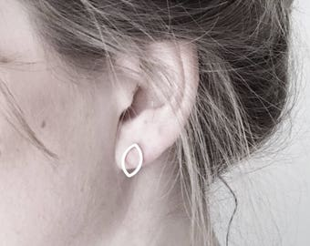 Marquis Silver Earrings | Minimalist Studs | Geometric Earrings | Petal Post Earrings | Silver Jewellery UK