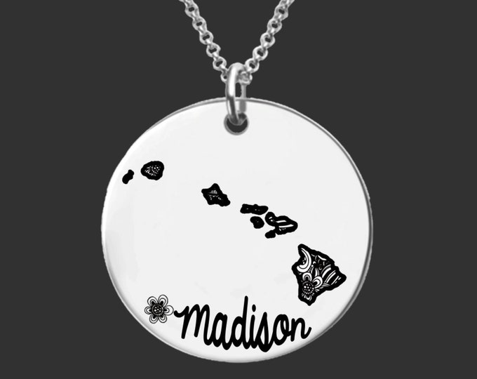Hawaii | State Necklace | Bridesmaid Gifts | Friend Gift | Daughter Gift | Best Friend Gifts | Personalized Gifts | Korena Loves