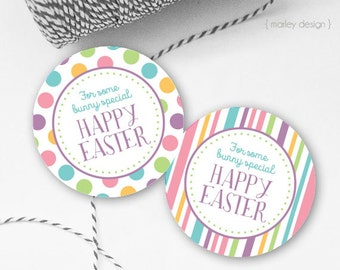 Easter Tags Printable Easter Favor Tags Easter Gift Tags Happy Easter Tags Instant Download Easter Printables Digital Easter Tags