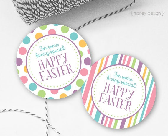 Easter tags printable easter favor tags easter gift tags happy il570xn negle Image collections