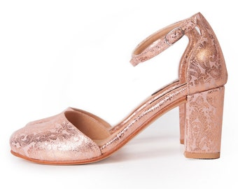 Paris Gold - Sandalia en oro rosa - Envio gratis.