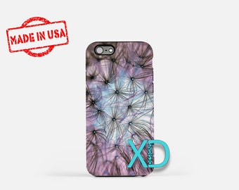 Dandelion iPhone Case, Flower iPhone Case, Purple iPhone 8 Case, iPhone 6s Case, iPhone 7 Case, Phone Case, iPhone X Case, SE Case