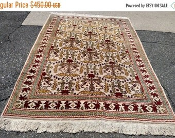 YEAR END CLEARANCE 1960s Hand-Knotted Turkish Anatolian Rug (3397)